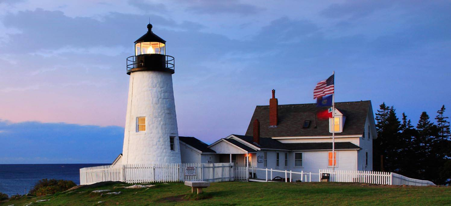 here's the famous pemaquid lighthouse