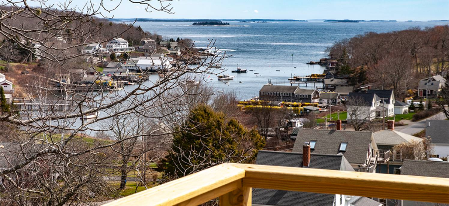View from the new deck at the Monhegan rental unit